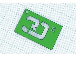 3Dc Logo keychain