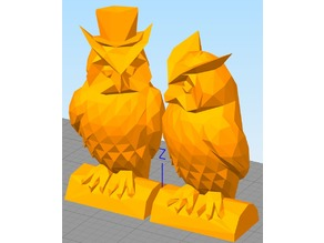 Lowest Poly Owl Pair