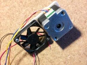 Super simple 50mm slim fan mount for nema17 motors
