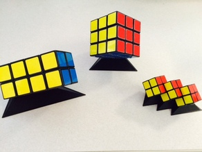 Rubiks Tower and Triple 2x2x2 Puzzle Stands