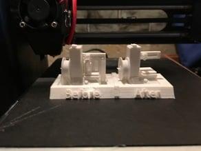 "Monoprice Select Mini Base for ""Mini 3D Printer"" by RayneMan"