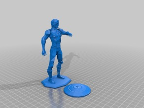 Captain America - Low Poly