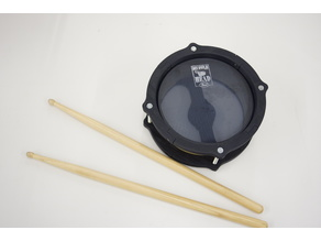 6 inch e-drum pad with small 3d printer