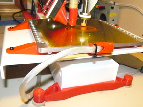 """Printrbot 6"""" aluminum bed wire strain relief"""
