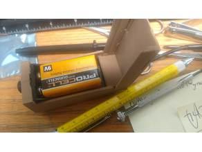 9V Battery Box w power toggled output+ON LED