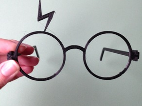 Harry Potter Glasses - Snap Fit with Scar