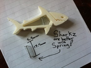 SHARKZ clip (with spring holes)