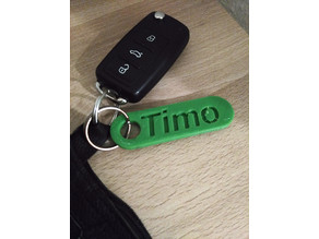 Personalized Key Chain - Double rounded