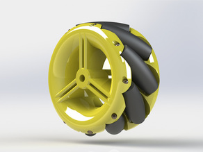44mm Mecanum Wheel (Small, Solid and Low Cost)
