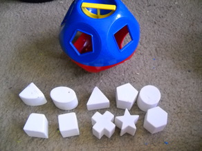 TUPPERWARE Shape O Ball Toy replacement shape blocks