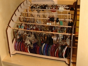 Lasercut Jewel Rack