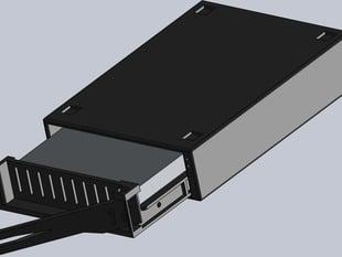 Printable SATA hot swap hard disk caddy