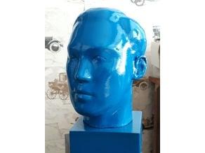 Head sculpture of Master Tiger Kim