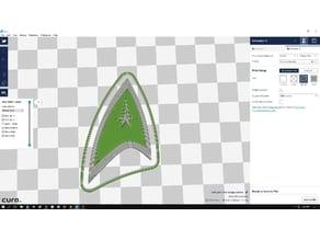 Star Trek Badge Dual Color