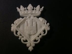 Escudo de Castellón ornamentado