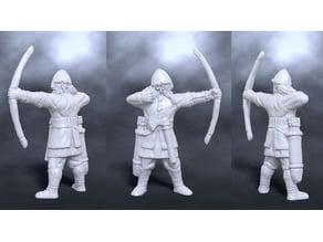 Medieval nordic bowman archer