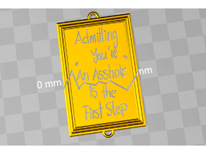 admitting you are an asshole - is the first step / partner pendant