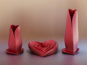 Valentine Vase & Dish Set