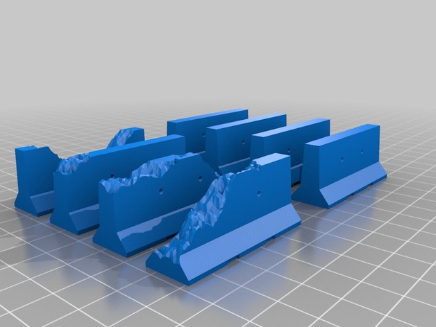 Jersey Barriers for 28mm Gaming