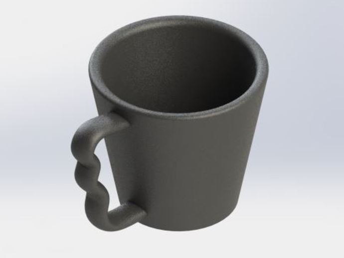 Ergonomic Coffee Cup By Yblock Thingiverse