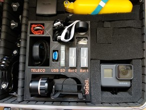 Accessory storage block gopro/Bloc de rangement accessoires gopro