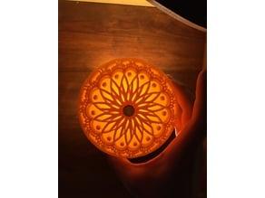 3D Lithophane Domes - Mandala, Geometric, Optical Illusion, Spiral, Checkered, etc.