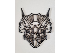 Triceratops Geometric Wall Art