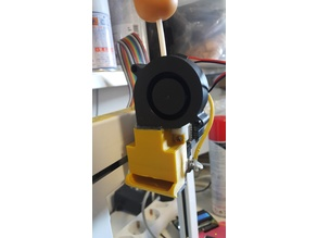 PP3D UP Plus extruder cooling duct for hot printing (ABS, PETG, PC..)