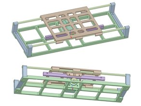 Prototype of movable table by rack and pinion, stepping motor