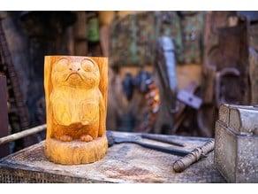 Porg carving tiki mug