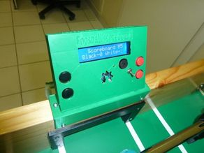 Foosball table scoreboard