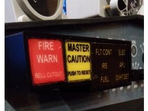 B737 Master Alarm Panel