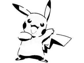 Pikachu stencil 2