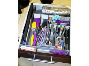 Cutlery silverwear tray organizer drawer Prusa i3 MK3 size
