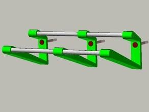 Customizable Single Screw Floating Shoe Rack