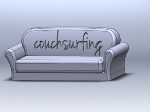 Couchsurfing Couch Souvenir