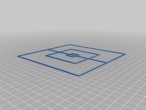X/Y axis calibration squares