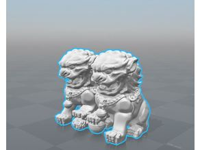 Chinese Traditional Lion Stone Statue Sculpture