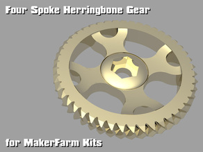 Four Spoke Herringbone Gear for MakerFarm Kits