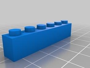 Thin 6 block Lego
