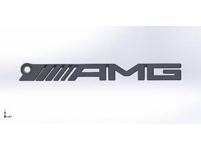 AMG Logo Key Chain