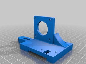Modified hyper cube evo extruder mount for tevo .