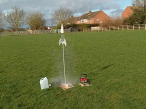 Bottle rocket launcher