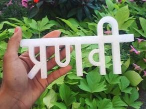 Pranavi (my name, in Hindi)