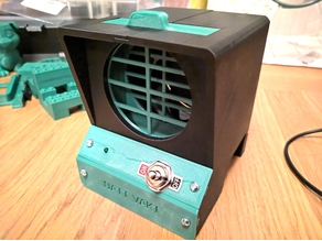 Minimalist 3D Printed Fume Extractor (Usb micro B and larger electronics enclosure)