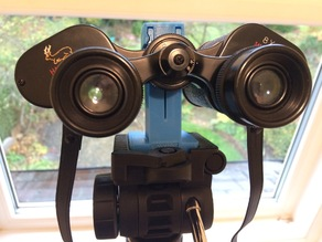 Binocular clamp for Vanguard tripod