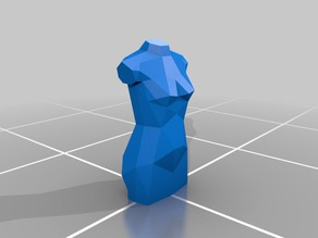 Female Low-Poly Mannequin Torso