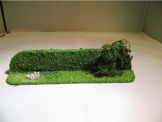 28 mm warhammer scale - simple hedge / hedgerow by frederique555