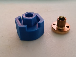 Threaded Rod to Lead Screw Adapter - Made for MakerGear Prusa Mendel may work for others