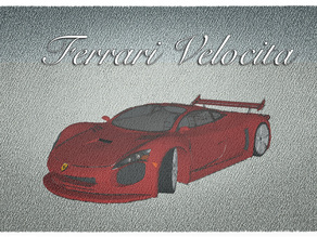 Ferrari Velocita concept car for #WeLoveCars collection by whatakuai
